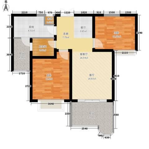 英郡2室1厅1卫1厨90.00㎡户型图