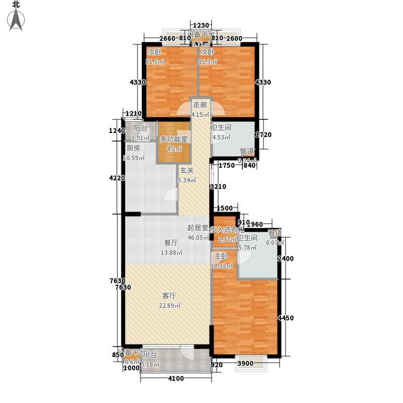 金尚嘉园165.21㎡2单元标准层02户面积16521m户型
