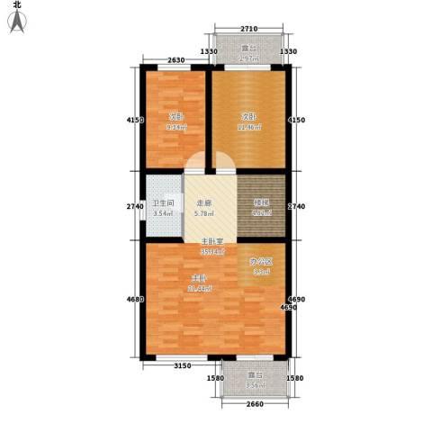 锦园别墅2室0厅1卫0厨94.00㎡户型图