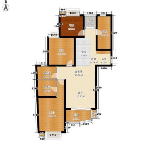 上海花园3室1厅2卫1厨120.05㎡户型图