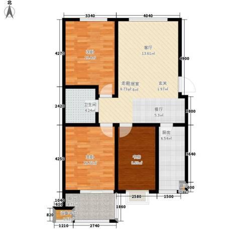 锦江I HOME3室0厅1卫1厨90.00㎡户型图