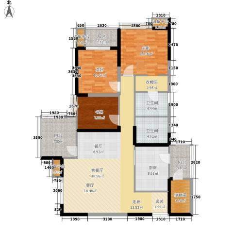 英郡3室1厅2卫1厨139.00㎡户型图