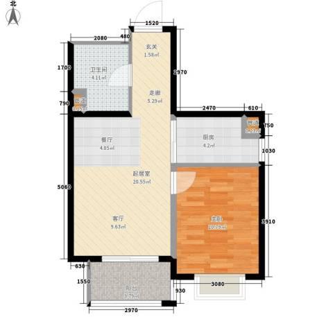 锦江I HOME1室0厅1卫1厨50.00㎡户型图