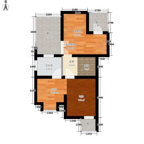 锦园别墅1室0厅1卫0厨62.00㎡户型图
