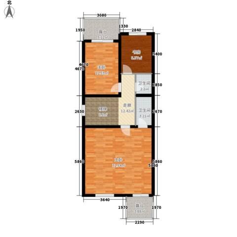 锦园别墅3室0厅2卫0厨113.00㎡户型图