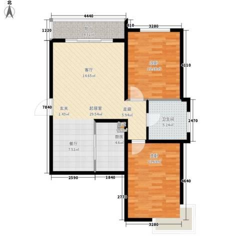 锦江I HOME2室0厅1卫1厨78.00㎡户型图