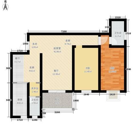 江尚天地1室0厅2卫1厨100.00㎡户型图
