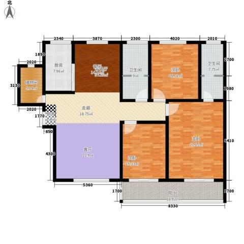 法苑小区3室1厅2卫1厨178.00㎡户型图