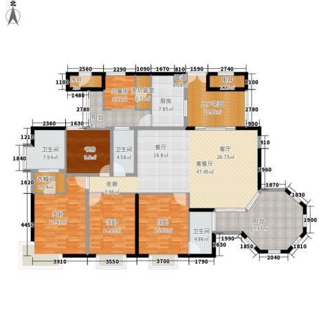 富力天河华庭5室1厅3卫1厨202.00㎡户型图
