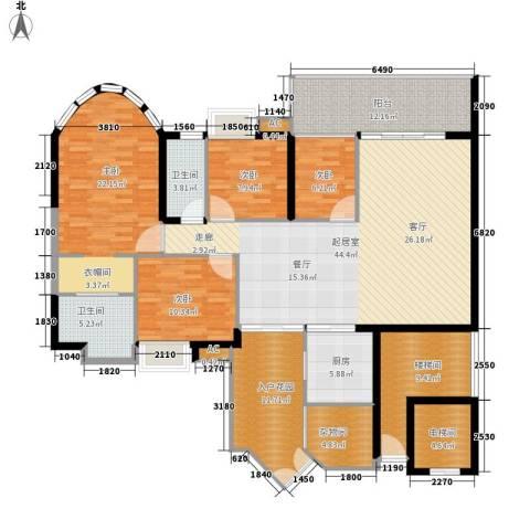 富力天河华庭4室0厅2卫1厨167.00㎡户型图