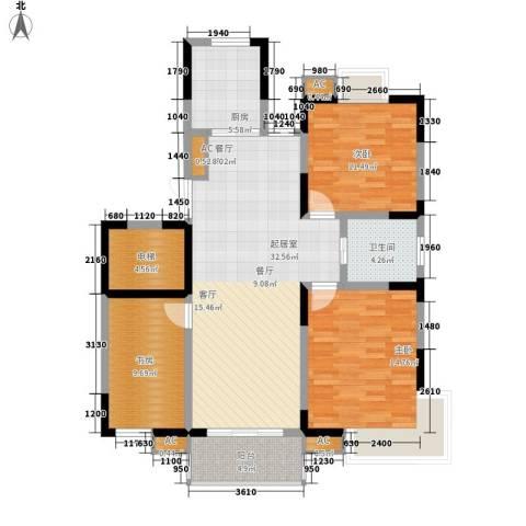 奥体新城木樨园3室0厅1卫1厨129.00㎡户型图