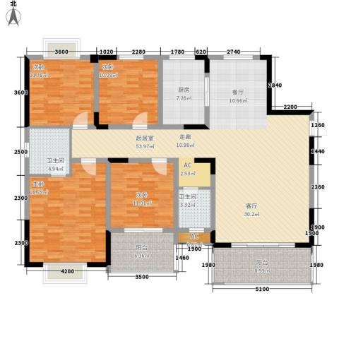 嘉盛和园4室0厅2卫1厨176.00㎡户型图