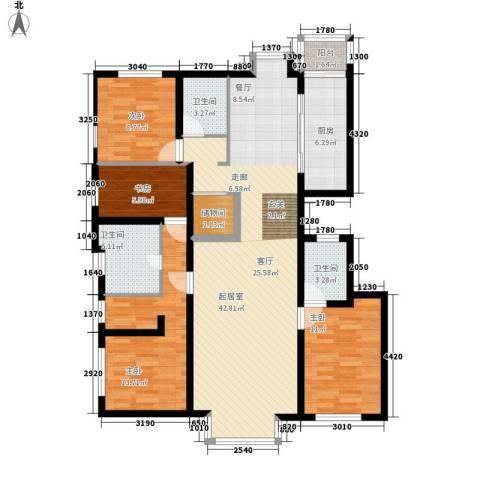 招商嘉铭·珑原4室0厅3卫1厨151.00㎡户型图