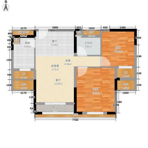 爱佳7982室0厅1卫1厨89.00㎡户型图
