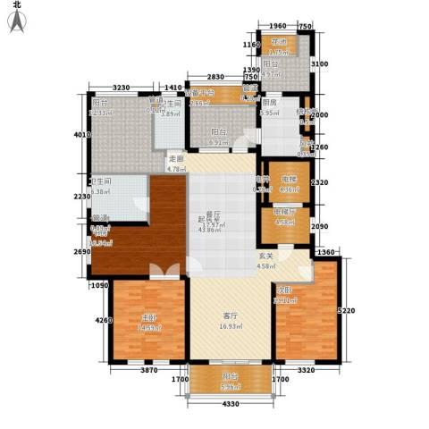 万科信成道3室0厅2卫1厨172.00㎡户型图
