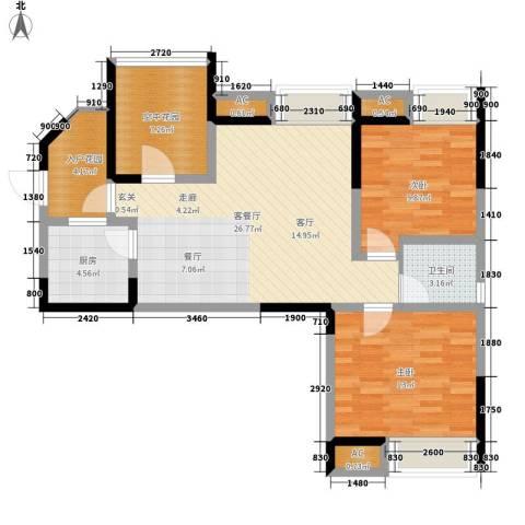 英郡2室1厅1卫1厨89.00㎡户型图