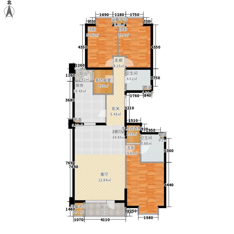 金尚嘉园165.17㎡5单元C13室面积16517m户型