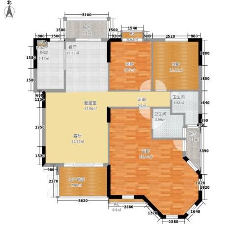 沁园春御院3室0厅2卫1厨150.00㎡户型图