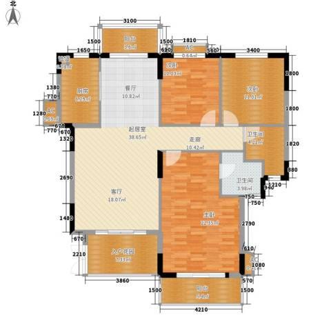 沁园春御院3室0厅2卫1厨138.00㎡户型图