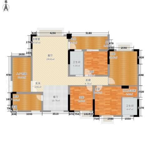 宜居莱茵城4室0厅2卫1厨154.00㎡户型图