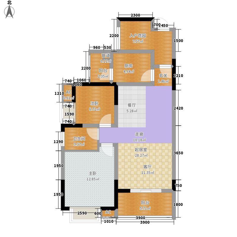 金色溪泉湾89.92㎡A户型2室2厅
