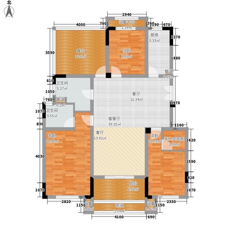 保利鑫城130.00㎡24#-32#洋房-3层E户型