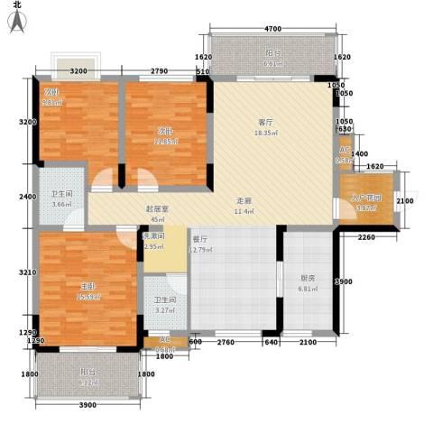 嘉盛和园3室0厅2卫1厨140.00㎡户型图