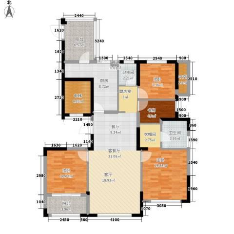 雅戈尔明洲4室1厅2卫1厨144.00㎡户型图