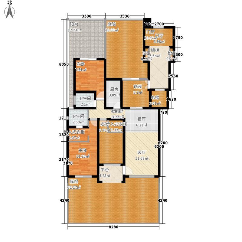 东方今典168.00㎡B1层洋房花园层户型