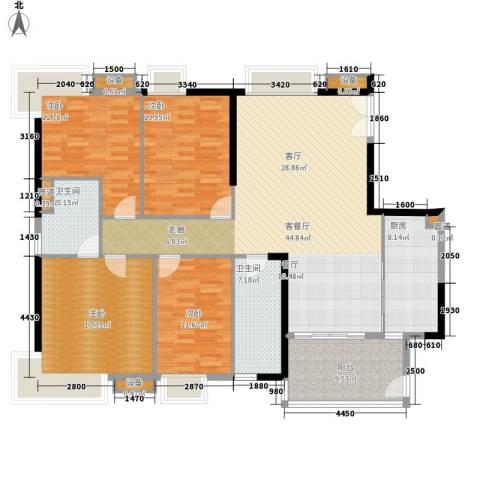 怡乐花园4室1厅2卫1厨148.00㎡户型图