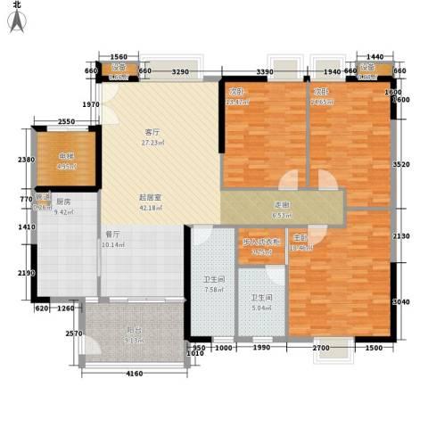 怡乐花园3室0厅2卫1厨143.96㎡户型图