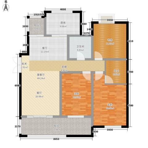 东岸3室1厅1卫1厨149.00㎡户型图