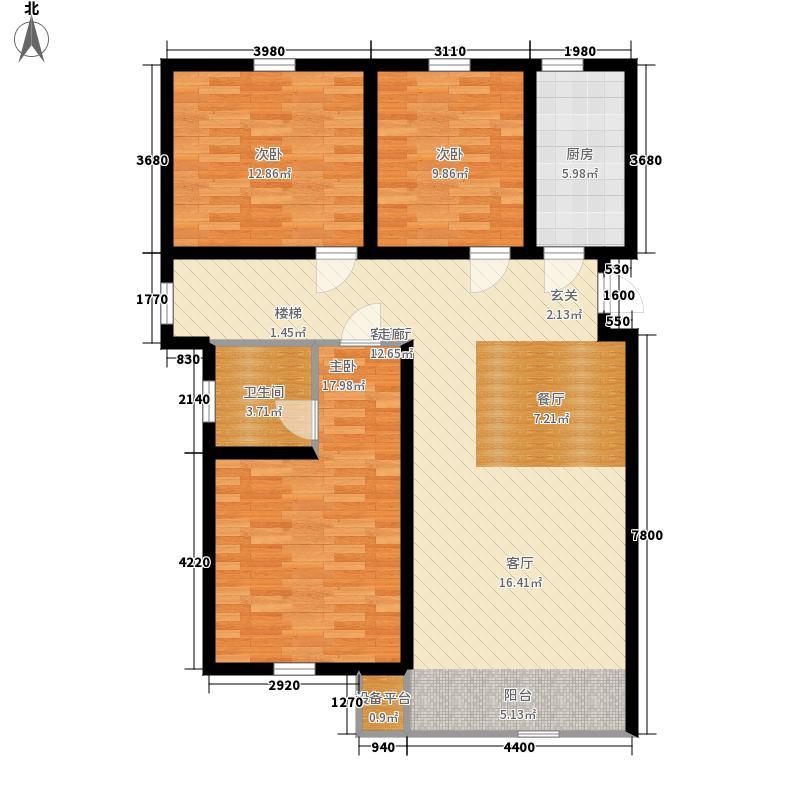 紫辰悦府113.00㎡一期1、2、3号楼G``户型