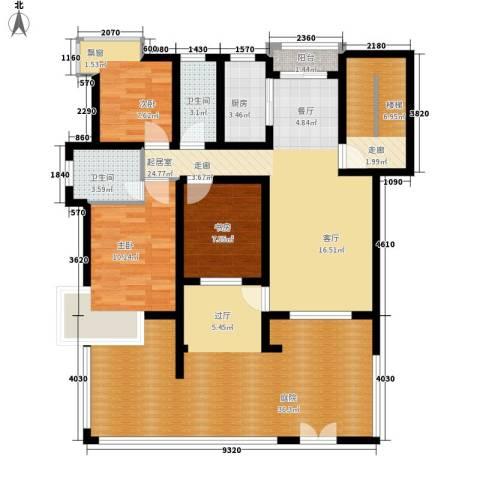 孔目江1号3室0厅2卫1厨119.00㎡户型图