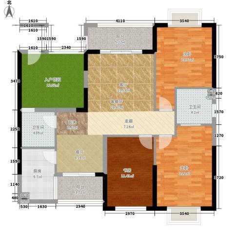 珠江怡景湾3室1厅2卫1厨118.00㎡户型图