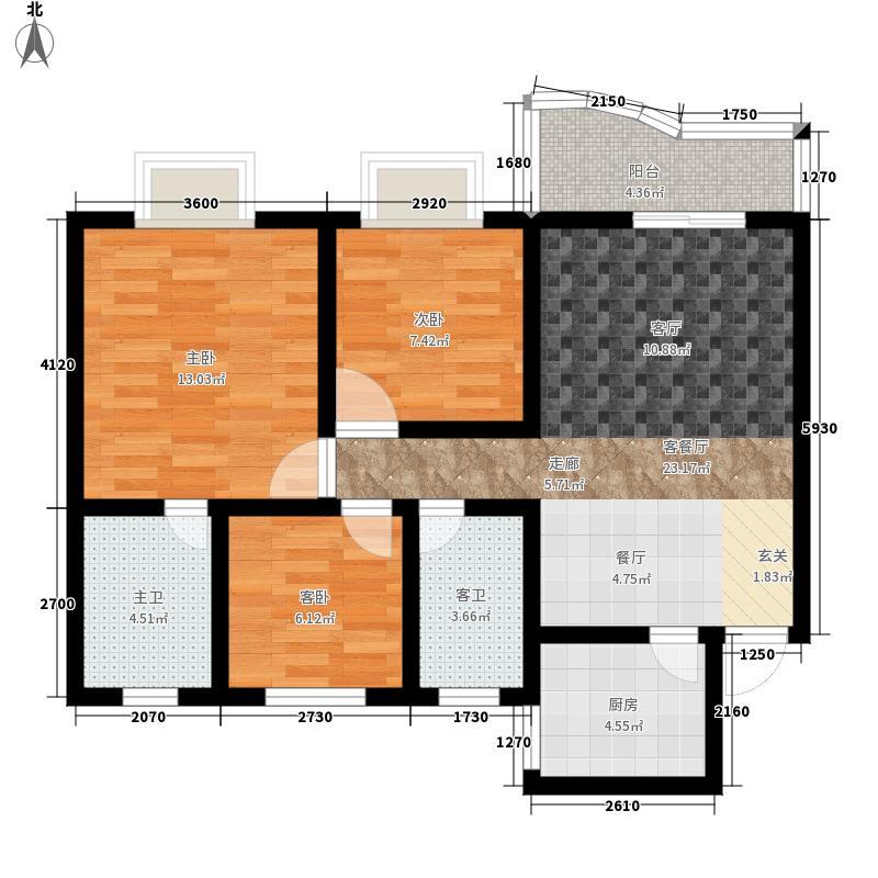 海德福苑114.00㎡7面积11400m户型