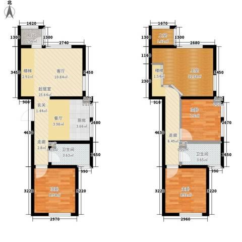 锦江I HOME3室0厅2卫0厨77.58㎡户型图