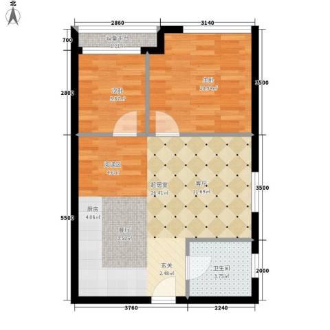 颐高数码港2室0厅1卫0厨70.00㎡户型图
