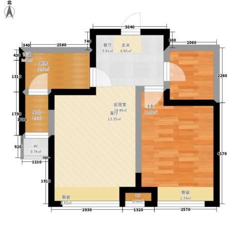 融科上城1室0厅0卫1厨64.00㎡户型图