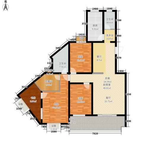 江尚天地4室0厅2卫1厨221.00㎡户型图