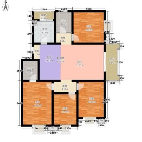 古塘丽景4室0厅2卫1厨171.00㎡户型图