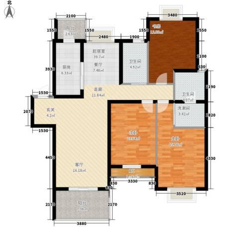 盛世名门3室0厅2卫1厨160.00㎡户型图