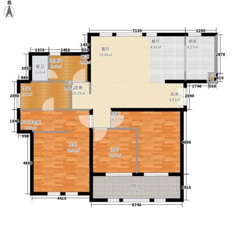 君悦国际花园3室0厅0卫1厨142.00㎡户型图