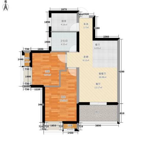 集贤一村小区2室1厅1卫1厨91.00㎡户型图