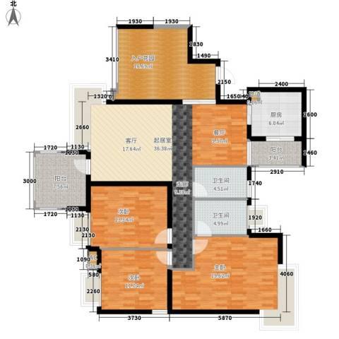 玲珑南域3室0厅2卫1厨136.00㎡户型图