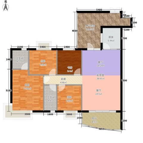 古塘丽景4室0厅2卫1厨169.00㎡户型图