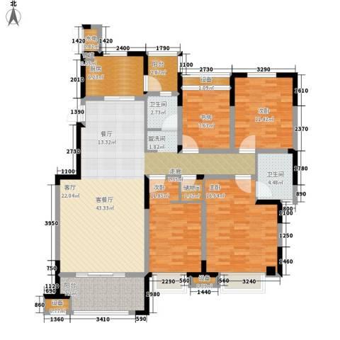 金科天籁城4室1厅2卫1厨139.00㎡户型图