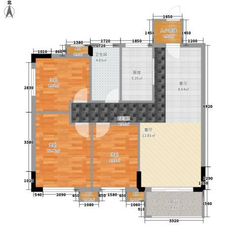 向东园3室0厅1卫1厨109.00㎡户型图