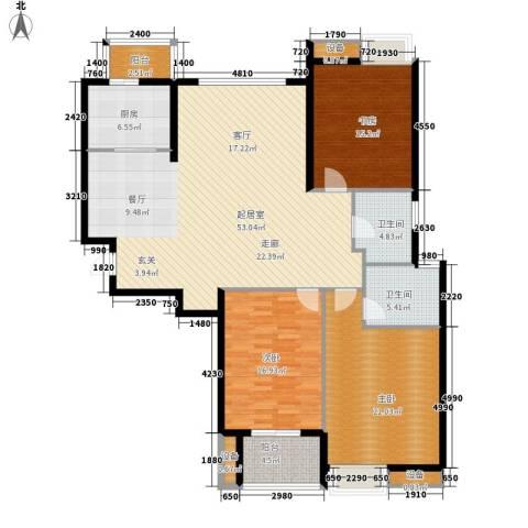 中建文化城3室0厅2卫1厨147.00㎡户型图