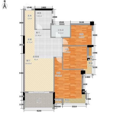 天泽一方3室0厅1卫1厨117.00㎡户型图
